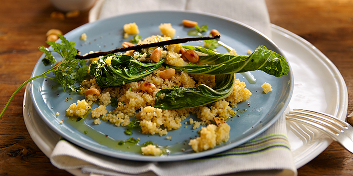 Delicious dishes with couscous on the side
