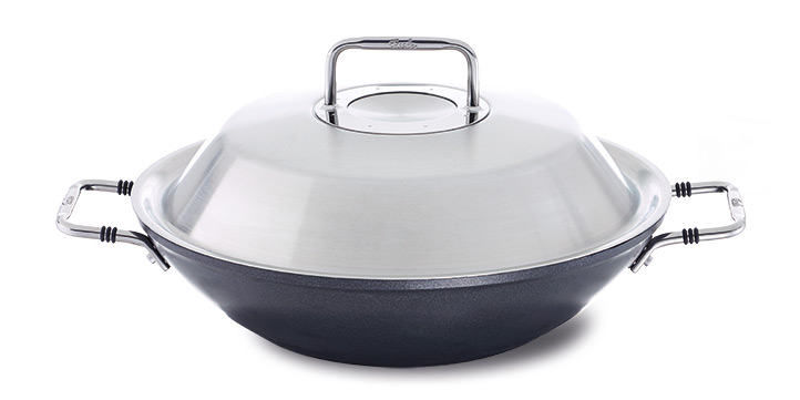 Nonstick-coated woks